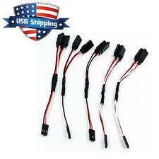 5Pcs 12in RC Universal Servo Y Harness Extension Cable Lead (Futaba/Spektrum/JR)