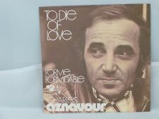 Charles Aznavour – To Die Of Love                  Barclay – MB 28.061
