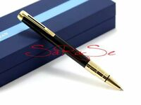 Waterman Perspective Kugelschreiber Ballpoint Pen Lack Schwarz Gold-Plattiert