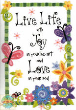 Embroidery Crewel Dimensions Live Life With Joy & Love Butterflies #6231 NEW
