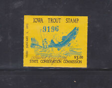 State Hunting/Fishing Revenues - IA - 1970 Trout ($3) - Used
