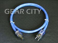 cpd3e 1.5m 5ft 13mm EU Mains Power Silver Cable Shield Cord Schuko IEC Plug HiFi