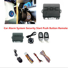 Car Alarm System Security Vibration Alarm Ignition Engine Start Push Button Kit