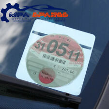 SINGLE PLAIN WHITE CAR PARKING PERMIT TAX DISC HOLDER LICENSE HOLDER