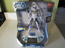 Star Wars Clone Wars Alarm Clock Radio Lights And Sounds Brand New