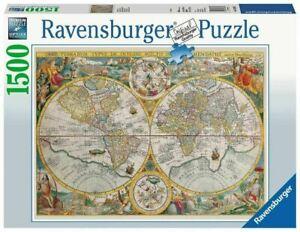 RAVENSBURGER PUZZLE 1500 PEZZI MAPPAMONDO STORICO 16381