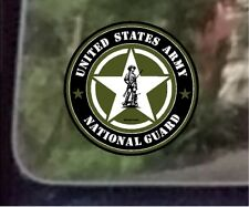 "ProSticker 1116 (One) 4"" United States Army National Guard Star Decal Sticker"