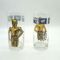 Vintage 2x seltenes Star Wars Pepsi Glas Limited Edition Star Wars Trilogy 3CPO