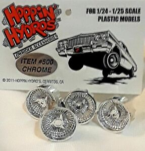 Hoppin Hydros 1/24 1/25 scale BABY Ds CHROME Rims Wheels Model Cars LOWRIDER