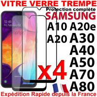 SAMSUNG A10 A20 A20e A30 A40 A50 PROTECTION INTEGRALE ECRAN FILM VERRE TREMPE