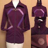 Lululemon Purple Origami Stride Jacket Woman Size 4 / 6 FullZip Run 2 Pockets