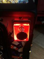 RED Lighted Shooter Rod Plate Cover for BACK TO THE FUTURE pinball machine mod