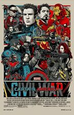 "Captain America Civil War Regular Poster Print  Tyler Stout  24"" x 36"" Mondo"
