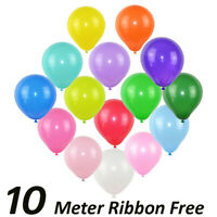 Quality 5 Inch Round Plain Latex Party Balloons (Pack Of 25 - 100) (10 Colours)