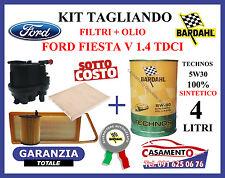 KIT TAGLIANDO FILTRI + OLIO MOTORE BARDAHL 5W30 FORD FIESTA V 1.4 TDCI