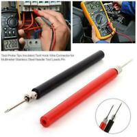 Top Quality 1 PAIR Universal Probe Test Leads Pin For Digital M Multimeter V3Z4