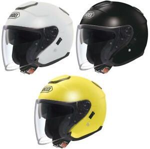 SHOEI J-Cruise Open Face Touring Motorcycle Motorbike Helmet White/Black/Yellow