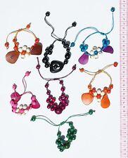 Lot 6 Natural Tagua Palm Nut Tropical Seeds Bracelets Peruvian Jewelry Wholesale