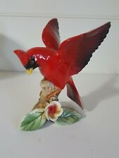 Vintage Lefton China Cardinal Bird  Figurine #9585