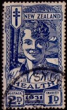 NEW ZEALAND 1931 2d Health smiling boy fine used...........................42269