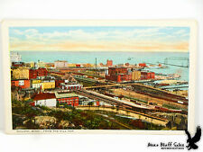 Duluth MN From Hill Top Aerial Bridge With Gondola Car Lake Superior Litho PC