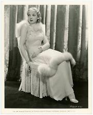 Transcendent Art Deco Hollywood Beauty Ida Lupino Original 1936 Glam Photograph