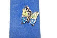 925er Sterling Silber Anhänger emailliert, Schmetterling