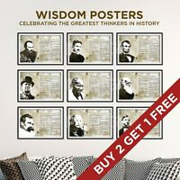 Quotes From the Greatest Thinkers in History - Unique Poster Collection Prints