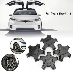 4PCS Wheel Center Hub Cap Cover Center Rim Cap Fit Tesla Model 3 Model Y