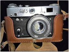 Ussr Fed-3 type 2 Vintage Soviet Rangefinder Camera. With Case Xxii Olympiad