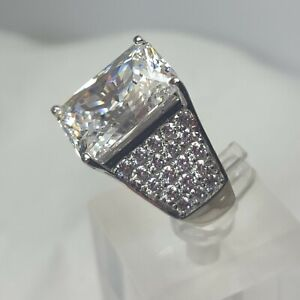 HSN Jean Dousset 8.71ct Absolute Royal Radiant-Cut Cocktail Ring SZ 6