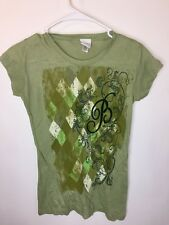 BELLAGIO Women's SIZE S Green Las Vegas Casino Tee T Shirt Top Gambling Poker