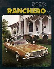 FORD Ranchero PICK-UP 1974 Stati Uniti Mercato PIEGA SALES BROCHURE 500 GT Squire