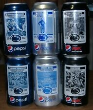 2011 Pepsi Penn State PSU Football 125th Anniversary Set 6 Can Cans EMPTY