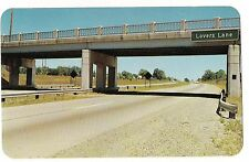 LOVERS LANE Hwy 94 Bridge Detroit to Benton Harbor Kalamazoo MICHIGAN  POSTCARD