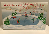 Department 56 Christmas Village Animated Skating Pond-Complete, Working