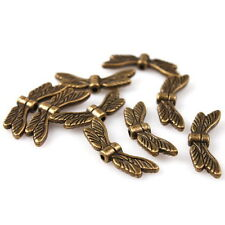 70pcs Hotsale Antique Bronze Dragonfly Wings Charms Alloy Spacer Beads Jewelry J