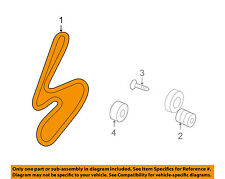 KIA OEM 07-10 Rondo-Serpentine Drive Fan Belt 252123E001