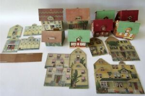 Antique Vintage MCLAUGHLIN And Other Lithograph Toy Town Lot