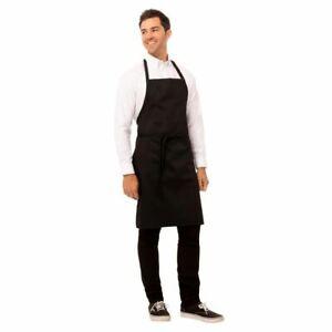 Chef Works Unisex Bib Professional Apron in Black Size 860x610mm