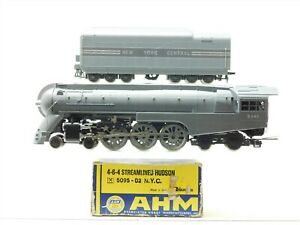 HO Scale AHM 5095 NYC New York Central 4-6-4 Hudson Steam #5446 - Does Not Run