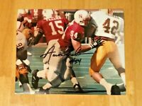 NEBRASKA FOOTBALL AARON GRAHAM #54 SIGNED PHOTO ASU PAT TILLMAN #42 / T. FRAZIER