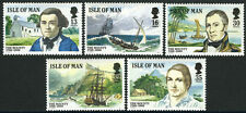 Isle of Man 389-393, MI 397-401, MNH. Mutiny on the Bounty, bicent. Ships, 1989