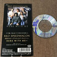 """REO SPEEDWAGON Here With Me JAPAN 3"""" CD 10.8P-3029 ex.RENTAL Not-snapped 1988"""