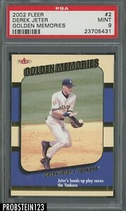 2002 Fleer Golden Memories #2 Derek Jeter New York Yankees HOF PSA 9 MINT