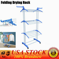 New Instahanger Wall Hanger Indoor Drying Rack Rail H Coat Dryer Away Fold T1E0