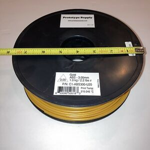 Prototype Supply 2.85mm Gold ABS Filament Missing 12oz from Low Humidity State