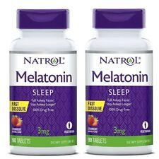 Natrol USA MELAT0NIX 3 mg Fast Dissolve - 2x90 Vegan Tabl.-  für 6 Monate