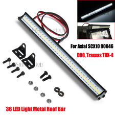 Super Bright 36 LED Light Bar Metal Roof Lamp for 1/10 RC Crawler Traxxas TRX4