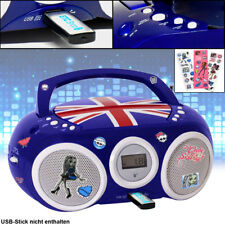 Stereo CD Player Kinder Zimmer Musik Anlage USB Boombox Monster High Sticker